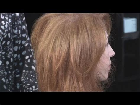 blow dry layered short hair youtube