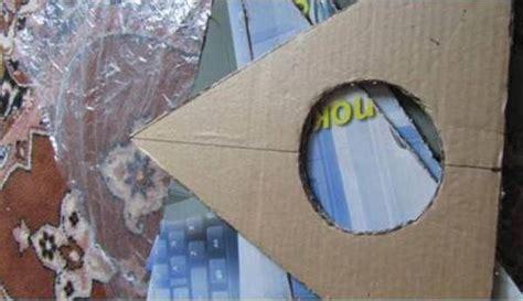 diy easy cardboard cat tent