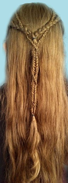 pin  carrie auckland  braided  plaited viking hair medieval hairstyles renaissance