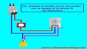 schema branchement cablage detecteur de mouvement avec With comment installer un projecteur exterieur 13 schema electrique brancher un interrupteur simple