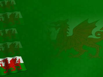 wales flag  powerpoint template