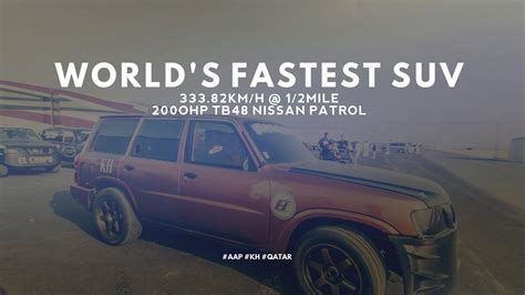 World's Fastest Suv 33382kmh @ 12 Mile Tb48 Nissan