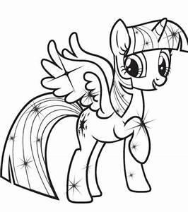 Free coloring pages of my little pony twilight