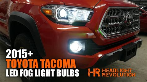 2015 toyota tacoma led fog light bulb upgrade and install