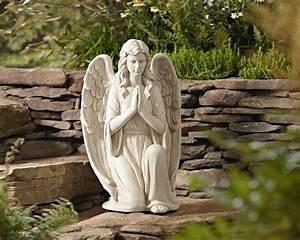 Essential, Garden, 27, U0026quot, Kneeling, Angel, Statuary, -, Outdoor, Living, -, Outdoor, Decor