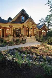 Stone and wood exterior | Dream House | Pinterest