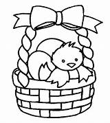 Easter Basket Coloring Pages Cute Toddler Printable sketch template