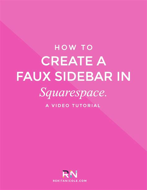 Squarespace Templates With Sidebar by How To Create A Faux Sidebar In Squarespace Ux Ui