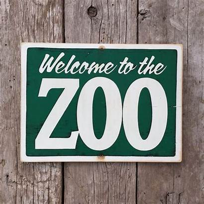 Zoo Welcome Signs Entrance Handmade Projects