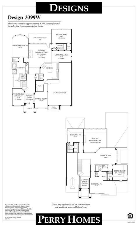 harvest green perry homes floor plan