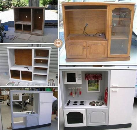 Diy Kids Kitchen Out Of Old Wall Unit  Kids Room Ideas
