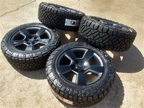 chevy silverado  black  textured oem wheels
