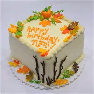 Fall Autumn Happy Birthday Cake