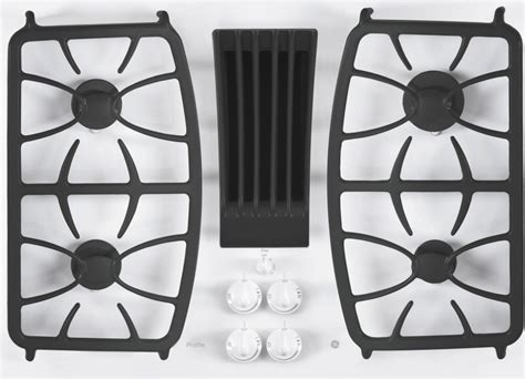 pgptjww ge profile series  built  gas downdraft cooktop white
