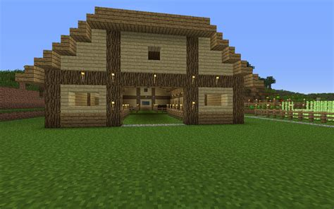 How To Build A Minecraft Barn by Starting A Farm On Survival So Built A Barn