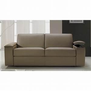 Canapé Avec Rangement : canap cuir italien avec rangement accoudoir ~ Teatrodelosmanantiales.com Idées de Décoration