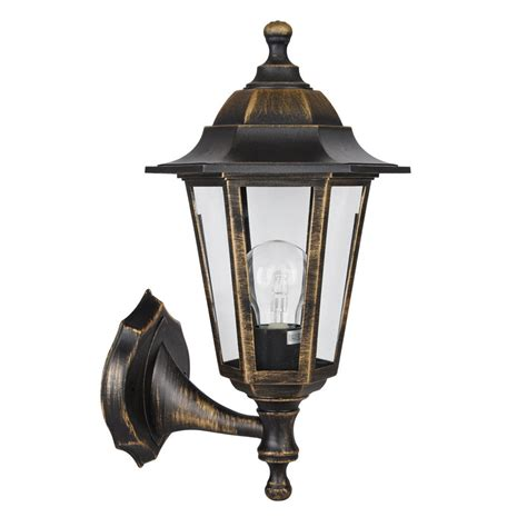 old style wall lights vintage style brushed gold black outdoor garden wall