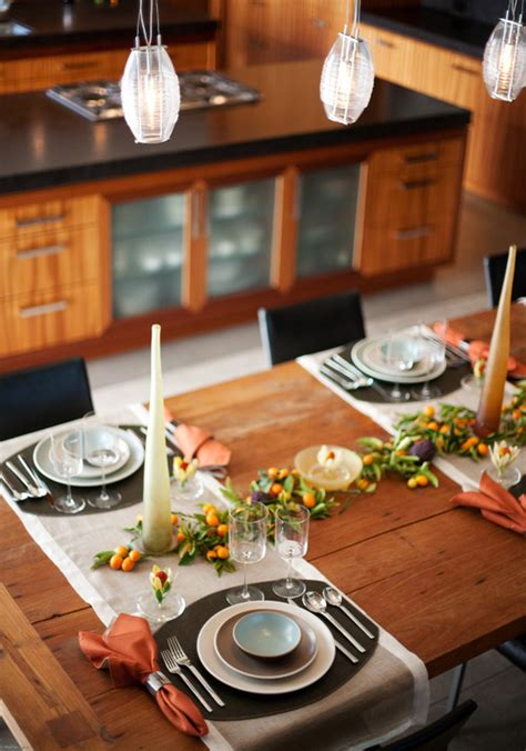 kitchen table setting ideas vida s think tank inspiring holiday tablescapes rustic and casual table setting ideas