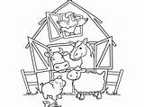 Coloring Farm Pages Animals Crafts Looking Activities Diy Window Through sketch template