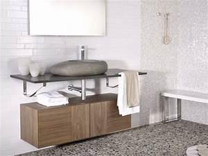 Vasque Salle De Bain En Pierre : vasque en pierre naturelle pour une salle de bains moderne ~ Teatrodelosmanantiales.com Idées de Décoration