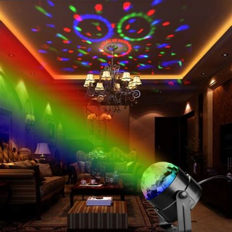 outdoor christmas strobe lights disco dj stage light club party crystal ball effect rgb