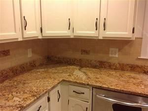 Mac s before after solarius granite countertop for Kitchen backsplash with granite countertops