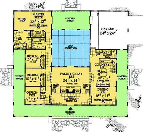 courtyard home floor plans plan w81383w central courtyard dream home plan e architectural design