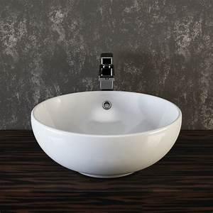 Aufsatzwaschbecken 30 Cm Tief : vilstein keramik waschbecken aufsatzwaschbecken waschtisch rund wei 42 cm ~ Indierocktalk.com Haus und Dekorationen