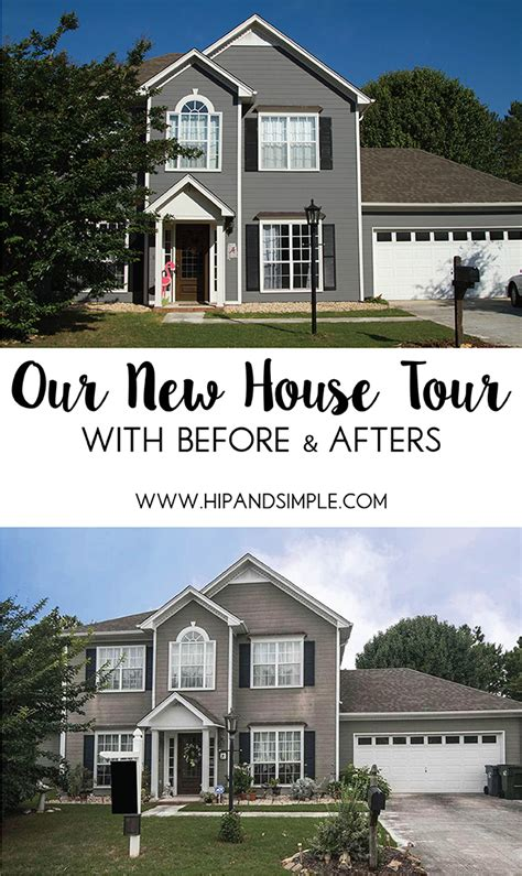 Our New House Tour  A Before And After Look  Hip & Simple