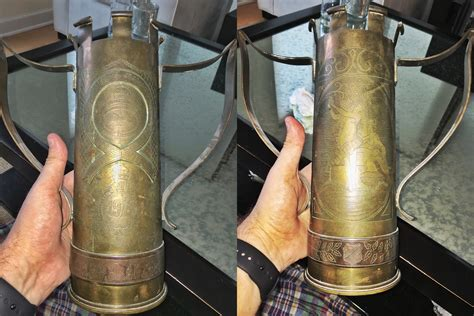 Ww1-era Trophy Made From An Artillery Shell