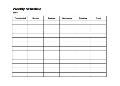 weekly employee shift schedule template excel task list
