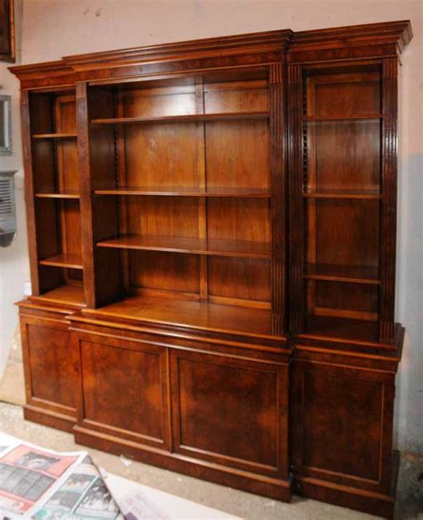 Furniture Bookcases by Walnut Regency Breakfront Bookcase Book Xl Furniture