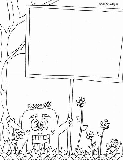 Coloring Pages Doodle Alley Templates Doodles Names