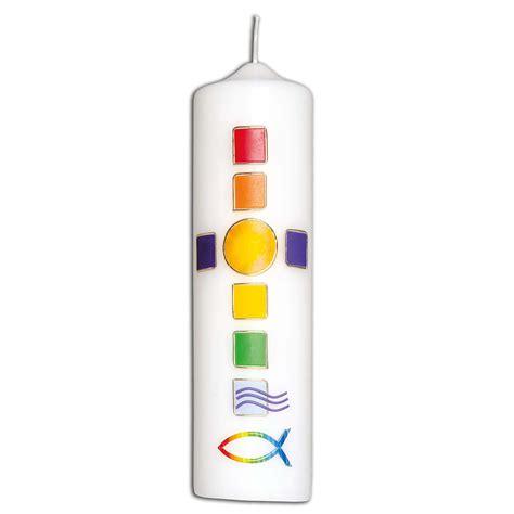 kerze regenbogenkreuz