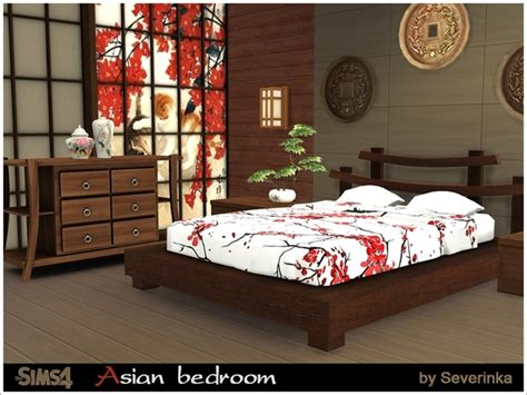 Asian Bedroom Furniture by Asian Bedroom By Severinka At Tsr 187 Sims 4 Updates