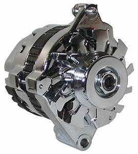 New Powermaster Delco Late Style Alternator Cs121 Chrome 1