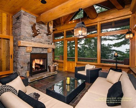 pictures of screened porch design 22 luxurious log cabin interiors you to see log
