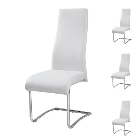 chaise simili cuir blanc chaises simili cuir blanc 28 images lot de 4 chaises