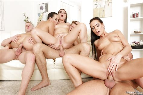 Hot Chick In Glasses Rides Cowgirl In Rough Anal Groupsex Reality Porn