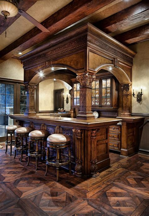 irish pub style bar home bar traditional with wood floors