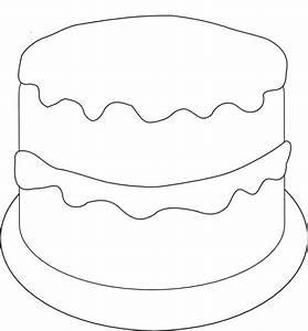Birthday Cake Outline Template