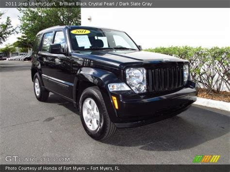 black jeep liberty interior brilliant black crystal pearl 2011 jeep liberty sport