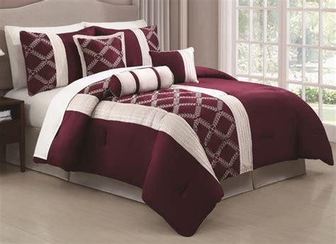 Wine Colored Comforter Sets Hyde Park 7 Piece 12