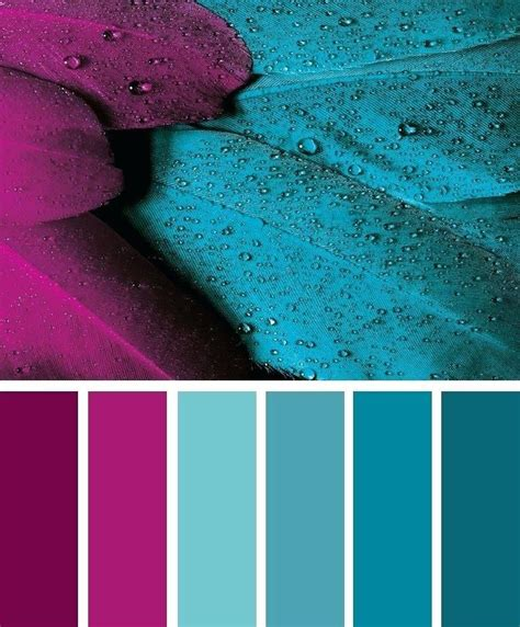 Bedroom Color Schemes With Teal by Color Palette Magenta And Green Colors In 2019 Color
