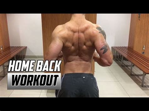 Home Back Workout - No Equipment | Back Exercises at Home ...
