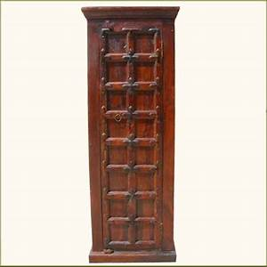 Narrow Solid Wood Storage Cabinet Closet Bedroom Armoire W