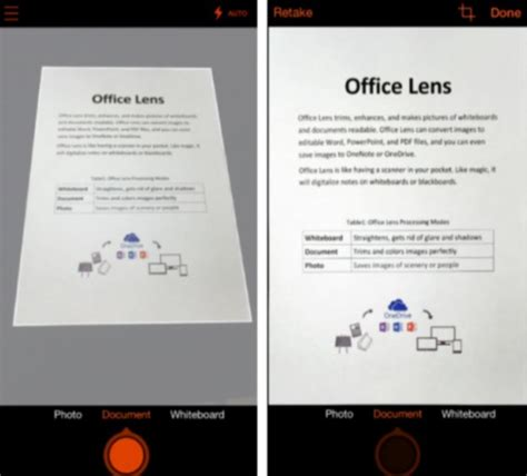 office lens  ios  android   phone  scanner