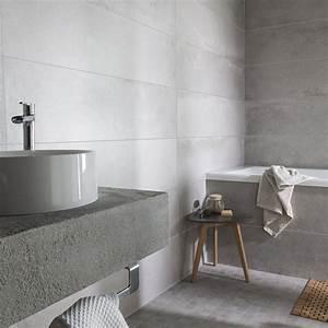 Carrelages Salle De Bain : carrelage sol et mur gris cendr harlem x cm ~ Melissatoandfro.com Idées de Décoration