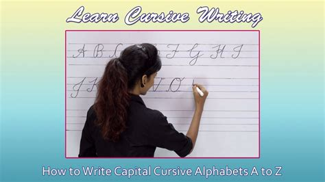 cursive writing  beginners writing cursive alphabets