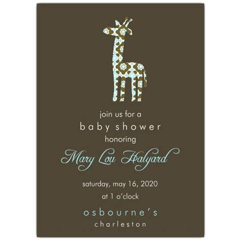 simple baby shower invitations giraffe simple mod pattern baby shower invitations